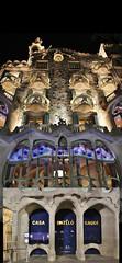 (Uno100) Tags: casa battlo barcelona gaudi night dark light blue purple city building art house 2019 passeign de grace batllo