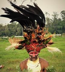 Headdress (gailhampshire) Tags: papua new guinea