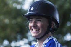 Smiling beautiful young horsewoman (Frank Fullard) Tags: frankfullard fullard candid street portrait smile youing ballinasloe horse fair jockey horsewoman woman lady beauty galway color colour happy irish ireland