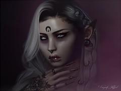 Wicked Game (Vanjah Rajal) Tags: secondlife sl portrait face dark closeup