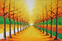 Avenue of Golden Leaves, Art Painting / Oil Painting For Sale - Arteet™ (arteetgallery) Tags: arteet oil paintings canvas art artwork fine arts november autumn tree yellow season alley fall landscape orange design natural plant trees pattern colorful park october color decoration sun summer graphic spring sky element wallpaper light branch golden brown outdoor gold old seasonal scene bright landscapes surreal fantasy forests lime paint