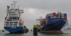 GREETJE & ANDROMEDA J (kees torn) Tags: europoort denieuweprins ret fastferry hoekvanholland europahaven rhenus containerschepen greetje andromedaj