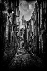 Kimber Lane (Peter Polder) Tags: australia architecture alley bw buildings city cityscape cityscapes chinatown dusk evening landscape monochrome mono overcast road sydney street skyline sky town urban z