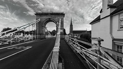 Marlow Bridge (THE NUTTY PHOTOGRAPHER) Tags: monochrome mono marlow marlowbridge buckinghamshire riverthames bridges bridge