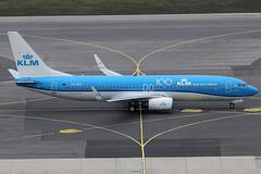 KLM Royal Dutch Airlines Boeing 737-8K2 PH-BXF (c/n 29596) 100th anniversary sticker. (Manfred Saitz) Tags: vienna airport schwechat vie loww flughafen wien boeing 737800 738 b738 klm royal dutch airlines phbxf phreg