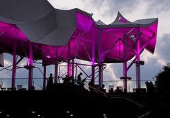 The Boat House (Alice_McCAnn) Tags: boathouse tulsa tulsaoklahoma gatheringplace outdoors outside pink colors purple shadows silhouette