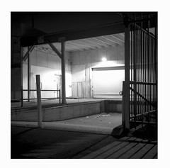Loading dock ghost (ADMurr) Tags: la eastside adams loading dock shadows rolleiflex 35 e ilford 125 cz zeiss planar mf 6x6 dba210