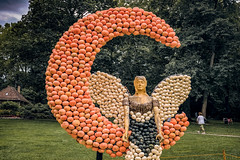 So I hear (Melissa Maples) Tags: ludwigsburg deutschland germany europe apple iphone iphonex cameraphone summer kürbisausstellung pumpkins pumpkin festival blühendesbarock garden art sculpture elf moon