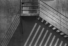 Stripes & stairs (herbdolphy) Tags: analog analogique argentique pellicule abstract grain expired kodak tripanx blackandwhite noiretblanc 35mm film