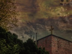 Mystic sky (wojciechpolewski) Tags: mystic holyplace holy cross holycross streetexploration urbanexploration photo photos cloudyday clouds sky wpolewski poland