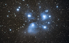 M 45 the Pleiades second try (Christian Dionne) Tags: darksky nikon d500 nikkor 500mmaip celestron cgem astropixelprocessor astrodslr astro photography night stars nebula galaxy m45 pleiades sevensisters