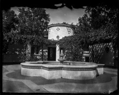 Santa Monica Mountains Visitor Center (Silver and Iron Tintype) Tags: wetplatecollodion alternativeprocess senecaimprovedview largeformat 4x5 4x5reducingback santamonicamountains visitorcenter architecture collodionnegative newguycollodion newguynegativecollodion glassnegative epsonv700