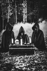 (Emily Boyer Photography) Tags: adirondacks adk blackandwhite woods forest dark eerie cult horror pagan wiccan wicca witch witchcraft photography conceptualphotography photoshop lightroom emilymartin tupperlake artist conceptual halloween