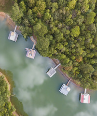 Docks and Clouds (Yer Photo Xpression) Tags: ronmayhew djimavicpro aerial docks clouds lake water trees landscape lakelanier northgeorgia georgia forsythcounty