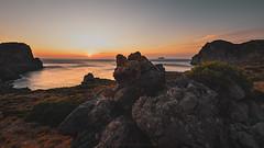 The Cretan sunset (agialopoulos) Tags: natur nature natural naturallight landscape landschaft see sunrise sunset sundown summer greece crete rocks travel light