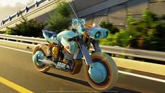Harley Davidson FullOrbit™ (ExeSandbox) Tags: harleydavidson 3drender lego motorcycle futuristic scifi