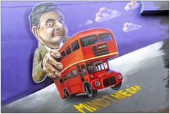 Mind The Gap (Mabacam) Tags: 2019 london shoreditch eastend street artspraycan artwall artpublic artgraffitipainted wallmind the gaprowan atkinsonbusred buslondon bus routemaster woskerski