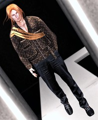 ♪ Psycho killer Qu'est-ce que c'est Fa, fa, fa, fa, fa, fa, fa, fa, fa, far better Run, run, run, run, run, run, run, away ♫ (ThiegoFire) Tags: multiplymx tram mgmens male outfit style catwalk catwa signature hairstyle hair redhead ginger jacket pants new blogger blog sl secondlife pic photography photo dossier backdropcove