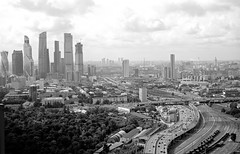Moscow SkyView :) (Vitaly Gureshov) Tags: moscow moscowcity adox cms20 film