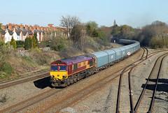 66140 Tyseley (CD Sansome) Tags: tyseley station birmingham train trains db cargo schenker ews english welsh scottish railway shed 66 66140 4m52 southampton eastern docks castle bromwich