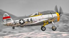 "1944 Republic P-47D-28-RA  ""Dottie Mae"" N47DM (david g schultz) Tags: 05052019 airshow airplane d850 pof planesoffame aircraft nikon nikonsigma outdoor sigma vehicle 1944republicp47d28ra dottiemae n47dm stevehinton thunderbolt selectivecolor davidschultzphotography radial propblur"
