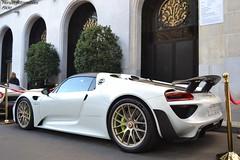 Porsche 918 Spyder Weissach Package (Monde-Auto Passion Photos) Tags: voiture vehicule auto automobile cars porsche 918 spyder sportive rare rareté blanc white b14 arabiesaoudite ksa france paris georgev