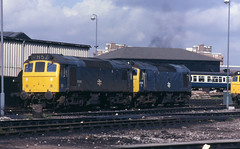 12.09.81 Saltley MPD 25260+25290 (philstephenrichards) Tags: br britishrail lmr londonmidlandregion saltley class25 25260 25290