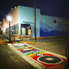 Crosswalk Mural Before Dawn (Robert_Brown [bracketed]) Tags: robertbrown photography silvercityphotographer gilagallery silvercity newmexico southwest cellphone photos instagram samsungs10 s10 color nightphotography