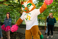 Pep Rally and Vinny's Birthday 2019 (saintvincentcollege) Tags: vinny mascot carey center careycenter cheerleaders students players footballplayers peprally birthday birthdayparty saint vincent college saintvincentcollege svc