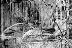 wirwar (roberke) Tags: digitalart artistic photomontage photoshop layers lagen textures textuur creation creative creatief surreal fantasy monochrome monochroom zwartwit blackwhite blackandwhite bw