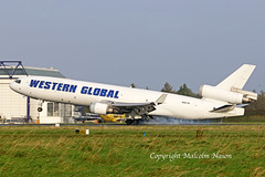 MD11F N581JN WESTERN GLOBAL (shanairpic) Tags: jetairliner freighter shannon md11f westernglobal n581jn
