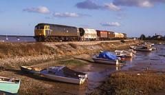47226 At Cockwood Harbour. 09/04/1987. (briandean2) Tags: 47226 class47 cockwoodharbour cockwood starcross devon devonrailways riverexe railways ukrailways ukfreighttrains