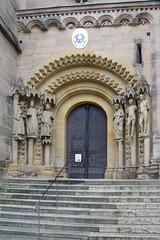 Bamberg Cathedral / Bamberger Dom (kate223332) Tags: architecture religion church catedral bamberg bavaria germany door entry gateway portal deutschland