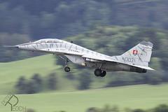 1303 / Slovak Air Force / Mikoyan-Gurevich MiG-29UBS Fulcrum (Peter Reoch) Tags: 1303 slovak air force mikoyangurevich mig29ubs fulcrum mig29 slovakairforce slovakrepublic slovakia slovakian military combat jet aircraft airshow aviation zeltweg airpower airpower19 austrian austria