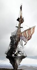 Main Mask (Vincent Mattina (aka FLUX)) Tags: mask ship desert face woman sails digital art college