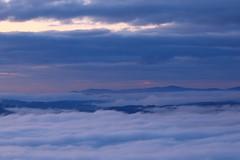 Blue hour (Xtraphoto) Tags: blue blau sky hills himmel berge clouds wolken nebel fog bavaria bayern bayerischer wald morgennebel frühnebel morningfog