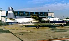 D-BAKE   Fokker F-27-100 [10257] (WDL Flugdienst) Frankfurt Int'l~D 04/10/1986 (raybarber2) Tags: 10257 abpic airportdata brokenup cn10257 cancelled dbake eddf filed flickr germancivil planebase propliner raybarber slide