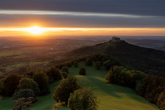 Hohenzollern Castle (dima.travelling) Tags: sunset longexposure landscape clouds trees forest germany bavaria hohenzollern castle fortress hills