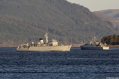 Royal Navy minesweepers HMS Hurworth, M39, and HMS Grimsby, M108; Loch Long, Firth of Clyde, Scotland (Michael Leek Photography) Tags: ships warships navalvessel navalexercise minehunter minesweepers royalnavy rn britainsarmedforces britainsnavy lochlong firthofclyde clyde hmnbclyde hmnb faslane hmsneptune gareloch vessels boats workingboat workboat nato jointwarrior jointwarrior2019 scotland scottishcoastline scottishlandscapes ship scotlandslandscapes scottishshipping westcoastofscotland westernscotland cowal cowalpeninsula argyllandbute argyll michaelleek michaelleekphotography