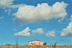 Pink (PattyK.) Tags: ioannina giannena giannina epirus ipiros balkans hellas ellada greece grecia griechenland october 2019 ιωάννινα γιάννενα ήπειροσ ελλάδα βαλκάνια οκτώβριοσ snapseed nikond3100 sky clouds asvestochori cottage pink ασβεστοχώρι ουρανόσ σύννεφα ροζ