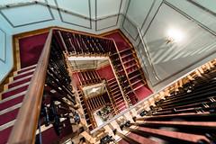 Hamper-tastic (Sean Batten) Tags: london england uk europe fortnumandmason stairs spiral staircase wideangle nikon d800 1424 red city urban shop piccadilly