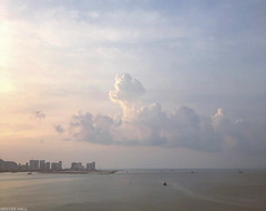 Penang Cloudscape (peterphotographic) Tags: photo230720191216031edwm penangcloudscape apple appleiphone iphone iphonex x ©peterhall penang georgetown malaysia seasia asia cloud cloudscape dusk sea water coast coastline