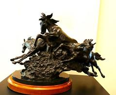 """Beach Boys,"" Bronze sculpture by Herb Mignery (ali eminov) Tags: wayne nebraska colleges waynestatecollege sculptors herbmignery sculptures beachboys"