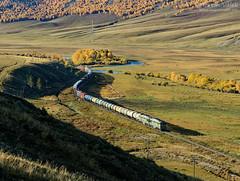 2TE116-1601 UBTZ/RŽD, Shatang - Tunkh (Mongolia) (Martin Válek) Tags: rail railway railroad train locomotive zug eisenbahn vlak železnice mongolsko mongolei transmongolianrailway ulaanbaatarrailway kharaa
