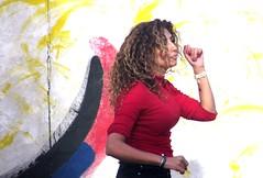 Dancing to Freedom (thomasgorman1) Tags: street woman dancer streetphotos streetshots canon wall wallart berlin candid dancing colors