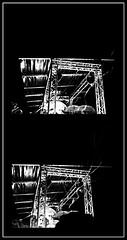 7 - Paris - Nuit Blanche et entours - Parade, Vivien Roubaud - Sucre cristal n°3, écoulement laminaire, courant alternatif, atmosphère modifiée (melina1965) Tags: octobre october 2019 îledefrance paris panasonic lumix dmctz57 nuitblanche mosaïque mosaïques mosaic mosaics collages collage noiretblanc blackandwhite bw 4earrondissement lumière light nuit night