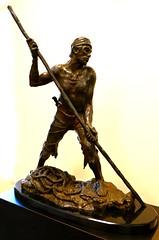 """Riverman,"" Bronze sculpture by Herb Mignery (ali eminov) Tags: wayne nebraska colleges waynestatecollege sculptors herbmignery sculptures riverman"