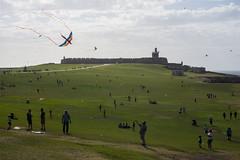 2018-06-10 Puerto Rico San Juan Old San Juan 002 (Ray Bernoff) Tags: sanjuan puertorico travel architecture sky clouds oldsanjuan kites park fort