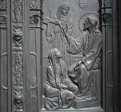 Bronze relief (thomasgorman1) Tags: bronze relief church religious nikon sculpture cathedral berlin travel artwork art