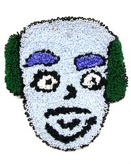 Gil (H o l l y.) Tags: rughooking rug fine art tapestry loop hole face character caricature funny silly weird eyes drawing acrylic yarn